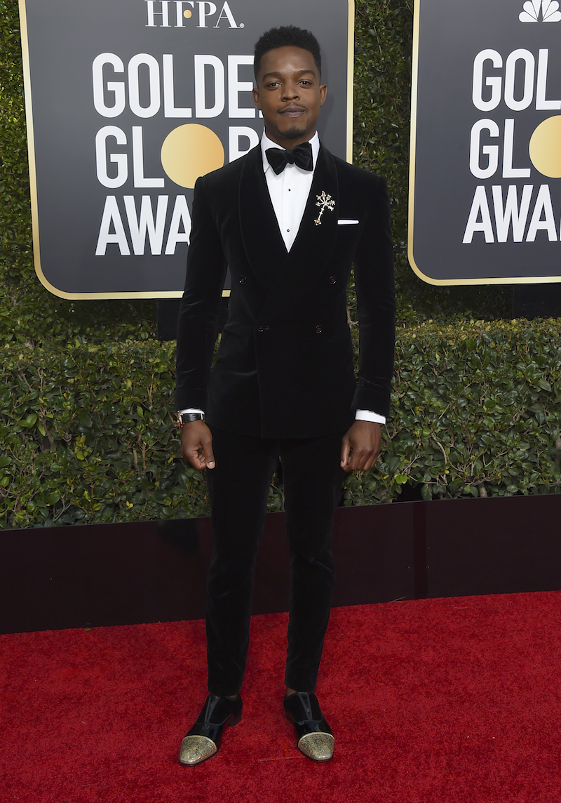 <div class='meta'><div class='origin-logo' data-origin='AP'></div><span class='caption-text' data-credit='Jordan Strauss/Invision/AP'>Stephan James arrives at the 76th annual Golden Globe Awards at the Beverly Hilton Hotel on Sunday, Jan. 6, 2019, in Beverly Hills, Calif.</span></div>