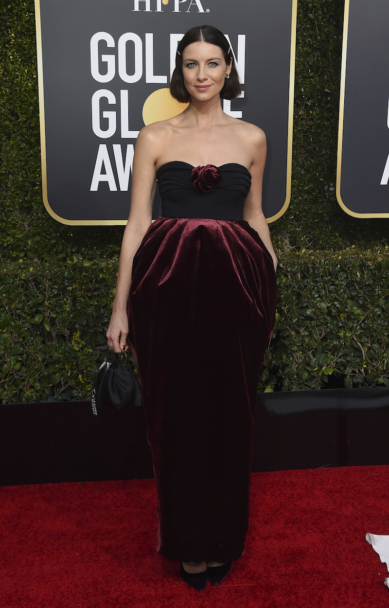 <div class='meta'><div class='origin-logo' data-origin='AP'></div><span class='caption-text' data-credit='Jordan Strauss/Invision/AP'>Caitriona Balfe arrives at the 76th annual Golden Globe Awards at the Beverly Hilton Hotel on Sunday, Jan. 6, 2019, in Beverly Hills, Calif.</span></div>