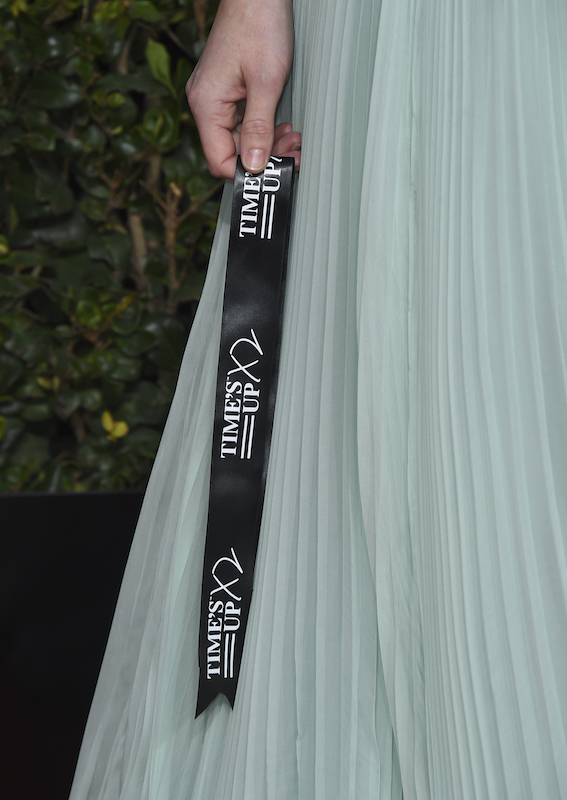 <div class='meta'><div class='origin-logo' data-origin='AP'></div><span class='caption-text' data-credit='Jordan Strauss/Invision/AP'>Yvonne Strahovski holds a Time's Up ribbon as she arrives at the 76th annual Golden Globe Awards at the Beverly Hilton Hotel on Sunday, Jan. 6, 2019, in Beverly Hills, Calif.</span></div>