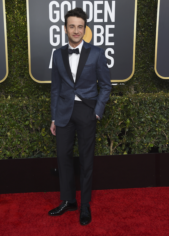 <div class='meta'><div class='origin-logo' data-origin='AP'></div><span class='caption-text' data-credit='Jordan Strauss/Invision/AP'>Justin Hurwitz arrives at the 76th annual Golden Globe Awards at the Beverly Hilton Hotel on Sunday, Jan. 6, 2019, in Beverly Hills, Calif.</span></div>