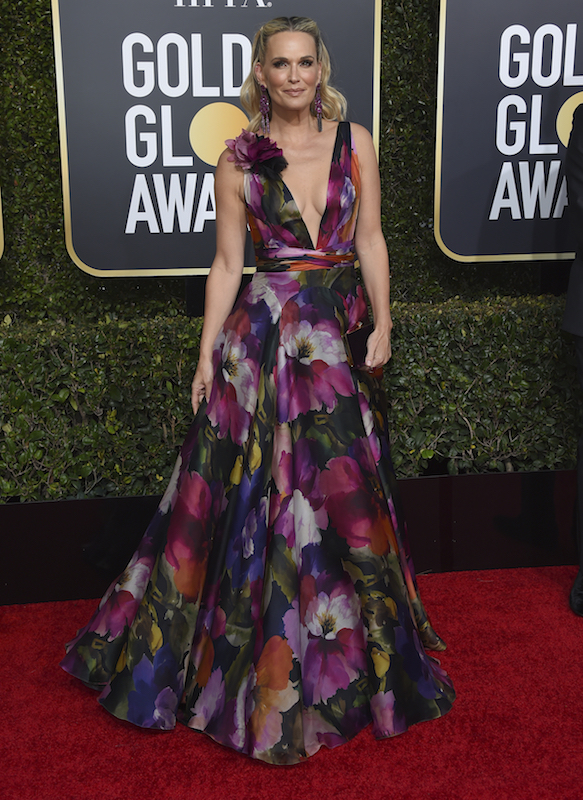 <div class='meta'><div class='origin-logo' data-origin='AP'></div><span class='caption-text' data-credit='Jordan Strauss/Invision/AP'>Molly Sims arrives at the 76th annual Golden Globe Awards at the Beverly Hilton Hotel on Sunday, Jan. 6, 2019, in Beverly Hills, Calif.</span></div>