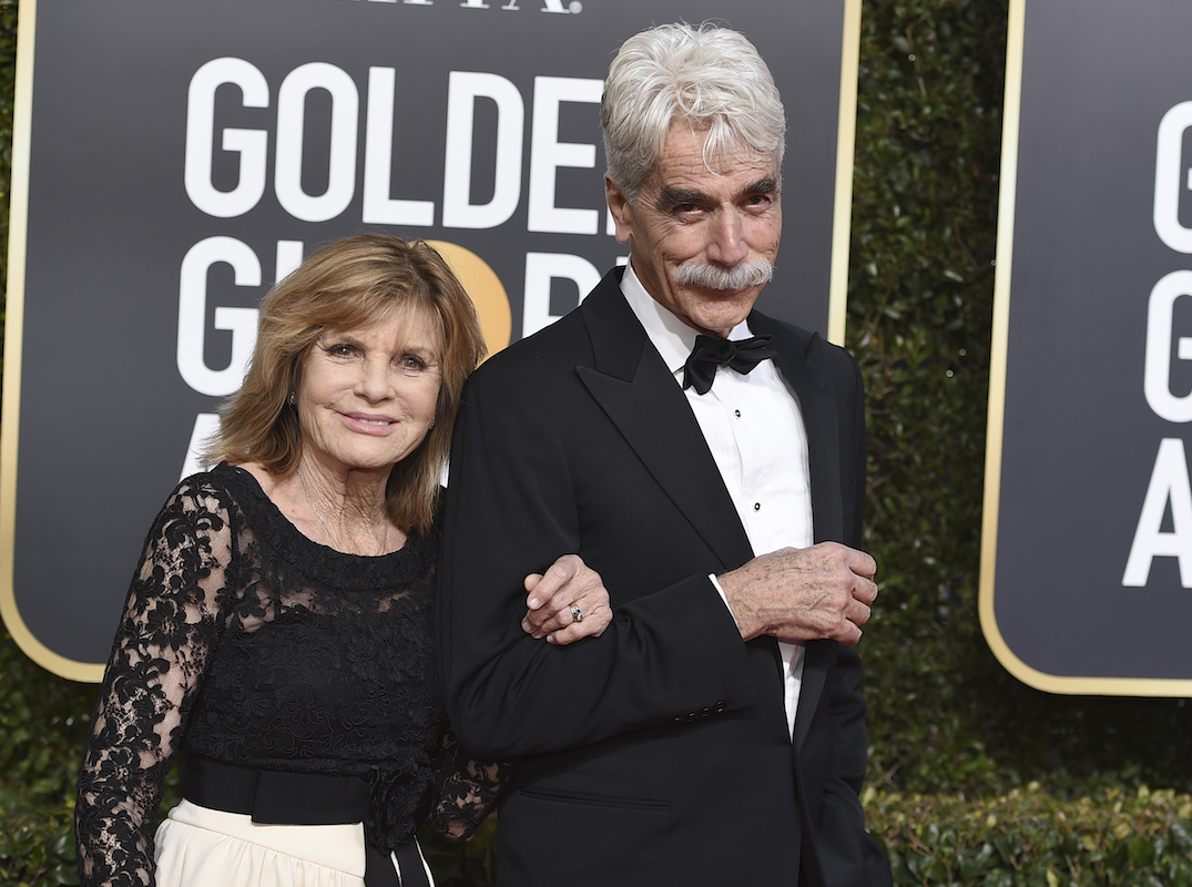 <div class='meta'><div class='origin-logo' data-origin='AP'></div><span class='caption-text' data-credit='Jordan Strauss/Invision/AP'>Katharine Ross, left, and Sam Elliott arrive at the 76th annual Golden Globe Awards at the Beverly Hilton Hotel on Sunday, Jan. 6, 2019, in Beverly Hills, Calif.</span></div>