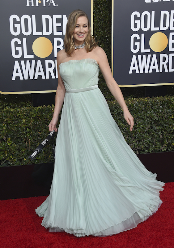 <div class='meta'><div class='origin-logo' data-origin='AP'></div><span class='caption-text' data-credit='Jordan Strauss/Invision/AP'>Yvonne Strahovski arrives at the 76th annual Golden Globe Awards at the Beverly Hilton Hotel on Sunday, Jan. 6, 2019, in Beverly Hills, Calif.</span></div>