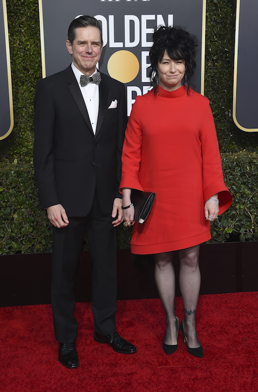 <div class='meta'><div class='origin-logo' data-origin='AP'></div><span class='caption-text' data-credit='Jordan Strauss/Invision/AP'>Daniel Palladino, left, and Amy Sherman-Palladino arrive at the 76th annual Golden Globe Awards at the Beverly Hilton Hotel on Sunday, Jan. 6, 2019, in Beverly Hills, Calif.</span></div>