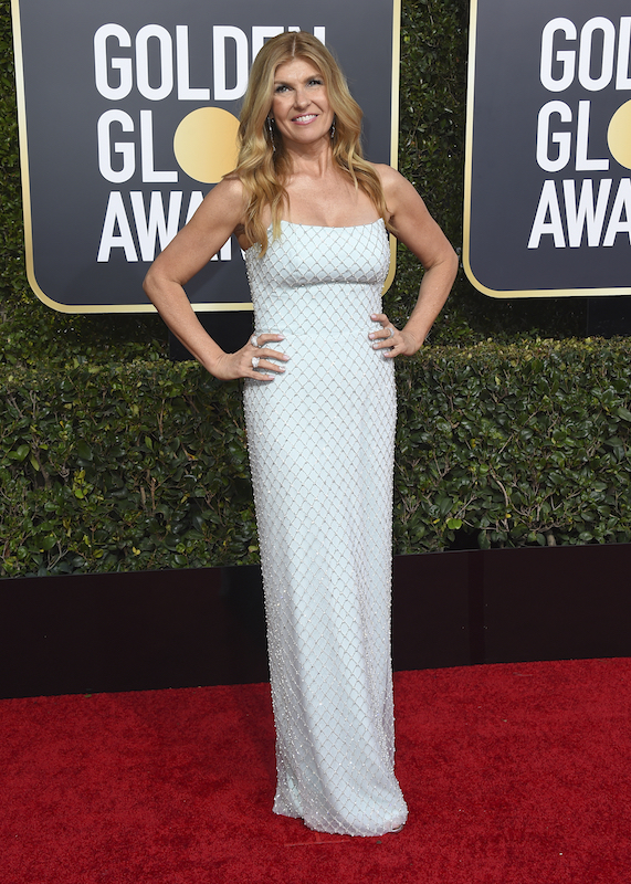 <div class='meta'><div class='origin-logo' data-origin='AP'></div><span class='caption-text' data-credit='Jordan Strauss/Invision/AP'>Connie Britton arrives at the 76th annual Golden Globe Awards at the Beverly Hilton Hotel on Sunday, Jan. 6, 2019, in Beverly Hills, Calif.</span></div>