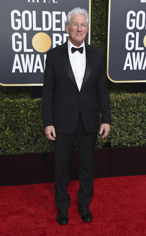 <div class='meta'><div class='origin-logo' data-origin='AP'></div><span class='caption-text' data-credit='Jordan Strauss/Invision/AP'>Richard Gere arrives at the 76th annual Golden Globe Awards at the Beverly Hilton Hotel on Sunday, Jan. 6, 2019, in Beverly Hills, Calif.</span></div>