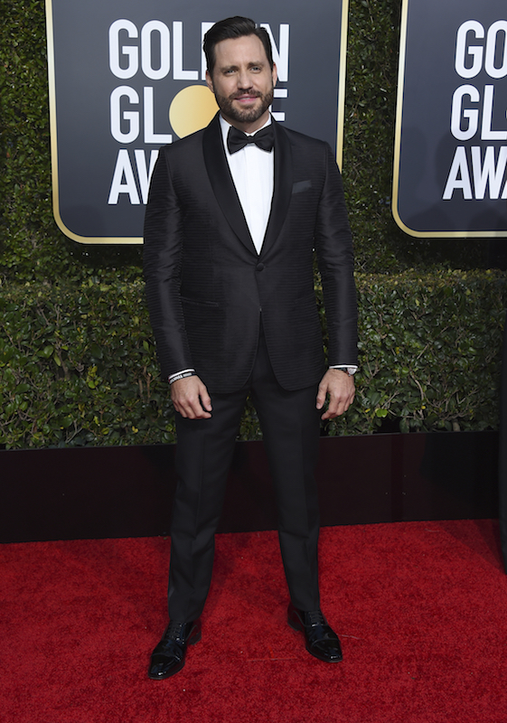 <div class='meta'><div class='origin-logo' data-origin='AP'></div><span class='caption-text' data-credit='Jordan Strauss/Invision/AP'>Edgar Ramirez arrives at the 76th annual Golden Globe Awards at the Beverly Hilton Hotel on Sunday, Jan. 6, 2019, in Beverly Hills, Calif.</span></div>