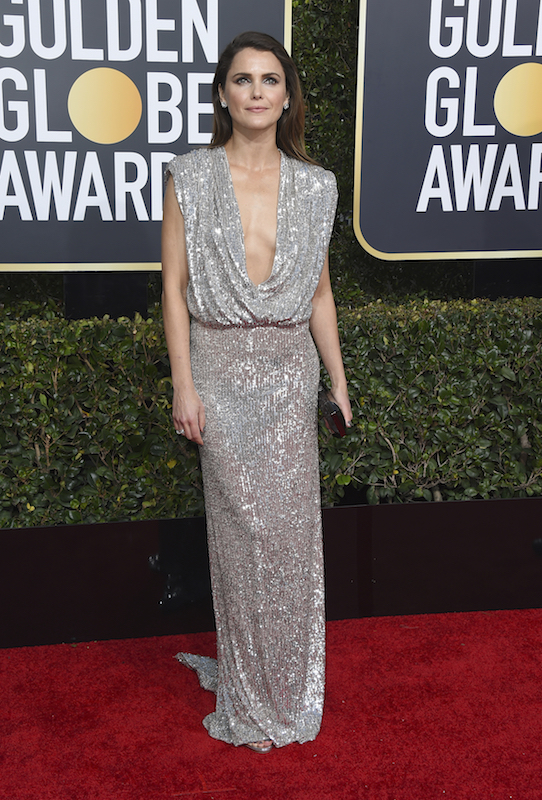 <div class='meta'><div class='origin-logo' data-origin='AP'></div><span class='caption-text' data-credit='Jordan Strauss/Invision/AP'>Keri Russell arrives at the 76th annual Golden Globe Awards at the Beverly Hilton Hotel on Sunday, Jan. 6, 2019, in Beverly Hills, Calif.</span></div>