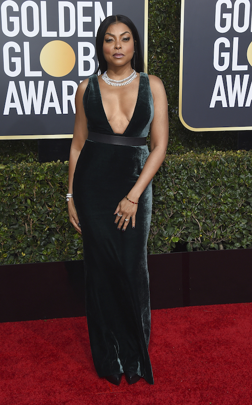 <div class='meta'><div class='origin-logo' data-origin='AP'></div><span class='caption-text' data-credit='Jordan Strauss/Invision/AP'>Taraji P. Henson arrives at the 76th annual Golden Globe Awards at the Beverly Hilton Hotel on Sunday, Jan. 6, 2019, in Beverly Hills, Calif.</span></div>