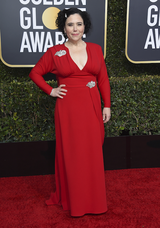 <div class='meta'><div class='origin-logo' data-origin='AP'></div><span class='caption-text' data-credit='Jordan Strauss/Invision/AP'>Alex Borstein arrives at the 76th annual Golden Globe Awards at the Beverly Hilton Hotel on Sunday, Jan. 6, 2019, in Beverly Hills, Calif.</span></div>