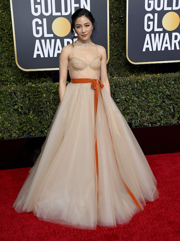 <div class='meta'><div class='origin-logo' data-origin='AP'></div><span class='caption-text' data-credit='Jordan Strauss/Invision/AP'>Constance Wu arrives at the 76th annual Golden Globe Awards at the Beverly Hilton Hotel on Sunday, Jan. 6, 2019, in Beverly Hills, Calif.</span></div>