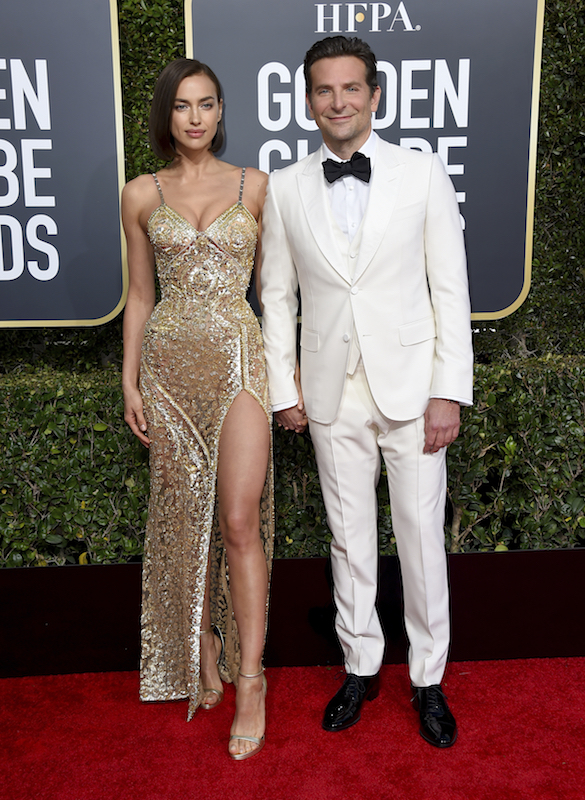 <div class='meta'><div class='origin-logo' data-origin='AP'></div><span class='caption-text' data-credit='Jordan Strauss/Invision/AP'>Irina Shayk, left, and Bradley Cooper arrive at the 76th annual Golden Globe Awards at the Beverly Hilton Hotel on Sunday, Jan. 6, 2019, in Beverly Hills, Calif.</span></div>