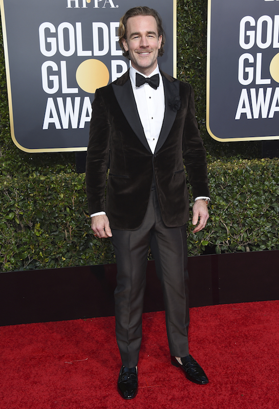<div class='meta'><div class='origin-logo' data-origin='AP'></div><span class='caption-text' data-credit='Jordan Strauss/Invision/AP'>James Van Der Beek arrives at the 76th annual Golden Globe Awards at the Beverly Hilton Hotel on Sunday, Jan. 6, 2019, in Beverly Hills, Calif.</span></div>