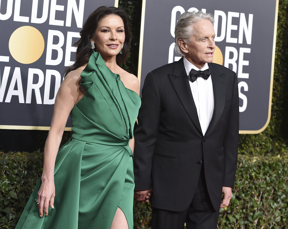 <div class='meta'><div class='origin-logo' data-origin='AP'></div><span class='caption-text' data-credit='Jordan Strauss/Invision/AP'>Catherine Zeta-Jones, left, and Michael Douglas arrive at the 76th annual Golden Globe Awards at the Beverly Hilton Hotel on Sunday, Jan. 6, 2019, in Beverly Hills, Calif.</span></div>