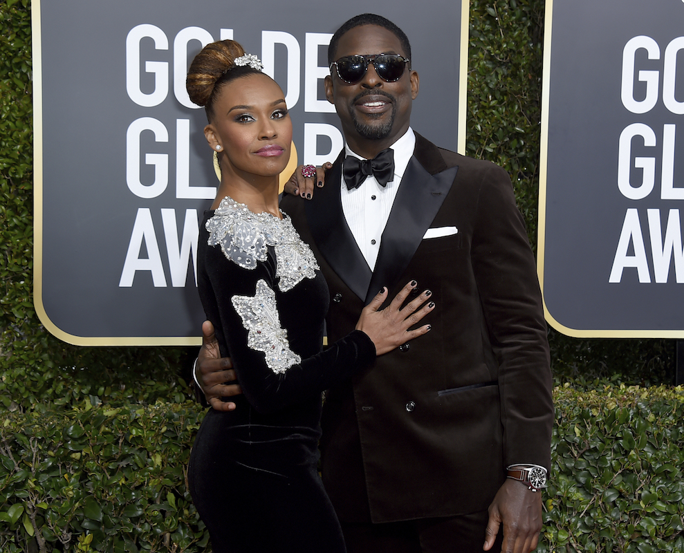 <div class='meta'><div class='origin-logo' data-origin='AP'></div><span class='caption-text' data-credit='Jordan Strauss/Invision/AP'>Sterling K. Brown, right, and Ryan Michelle Bathe arrive at the 76th annual Golden Globe Awards at the Beverly Hilton Hotel on Sunday, Jan. 6, 2019, in Beverly Hills, Calif.</span></div>