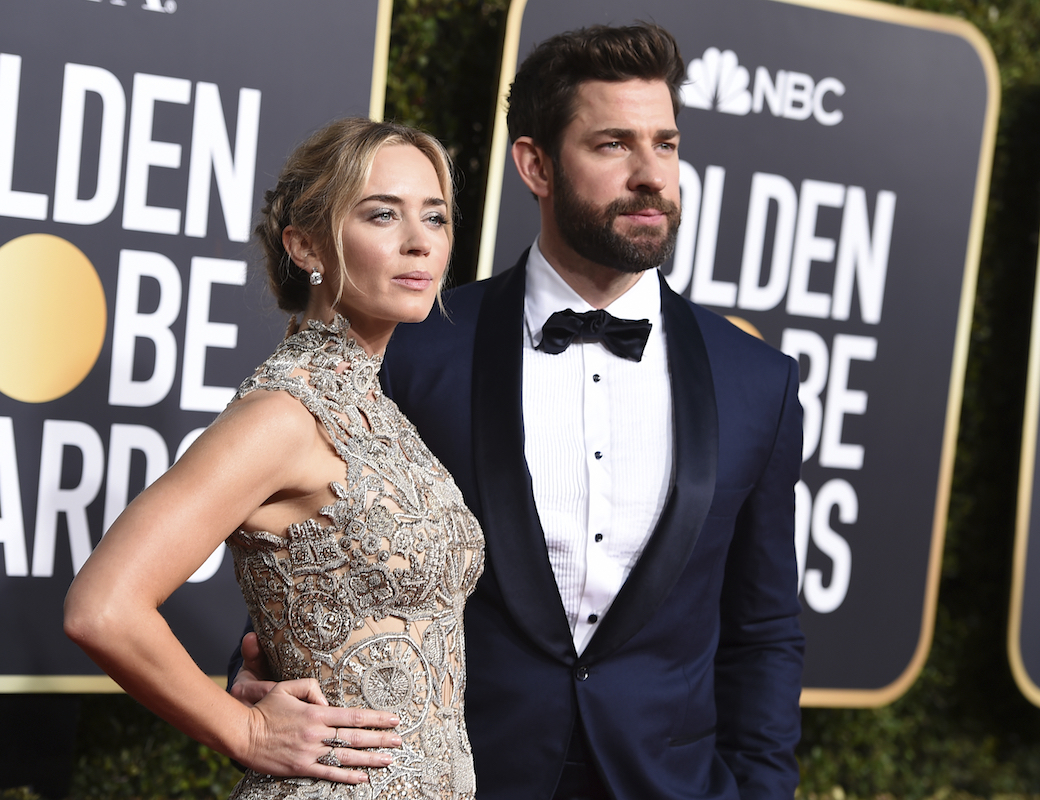 <div class='meta'><div class='origin-logo' data-origin='AP'></div><span class='caption-text' data-credit='Jordan Strauss/Invision/AP'>Emily Blunt, left, and John Krasinski arrive at the 76th annual Golden Globe Awards at the Beverly Hilton Hotel on Sunday, Jan. 6, 2019, in Beverly Hills, Calif.</span></div>