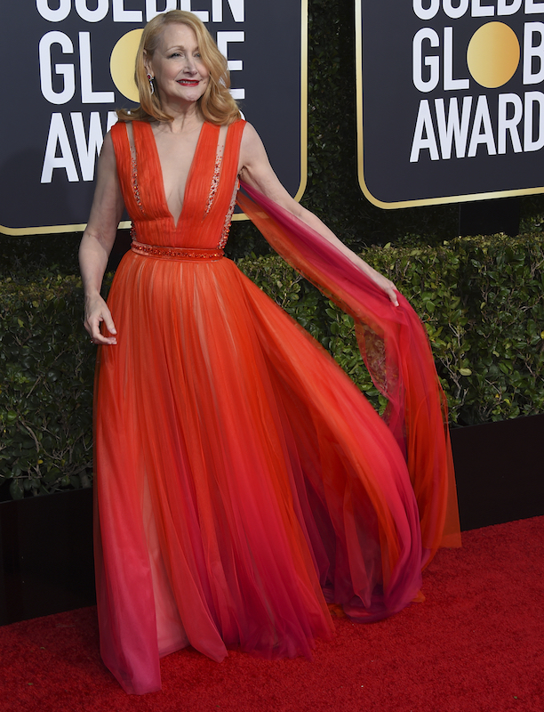 <div class='meta'><div class='origin-logo' data-origin='AP'></div><span class='caption-text' data-credit='Jordan Strauss/Invision/AP'>Patricia Clarkson arrives at the 76th annual Golden Globe Awards at the Beverly Hilton Hotel on Sunday, Jan. 6, 2019, in Beverly Hills, Calif.</span></div>