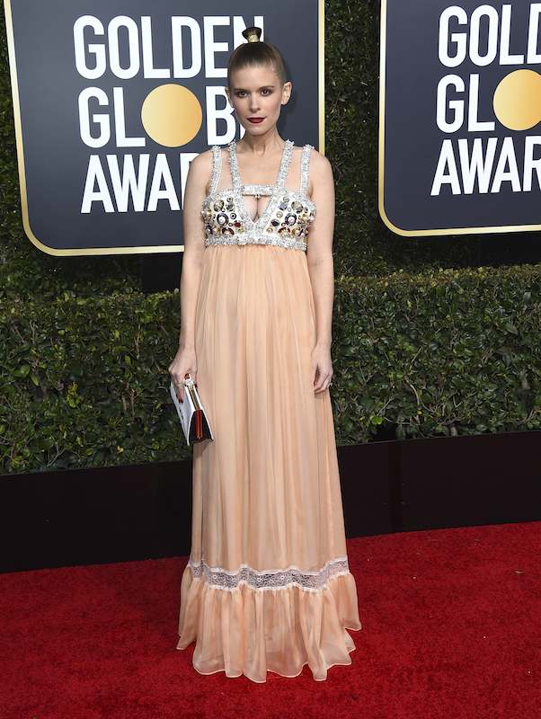 <div class='meta'><div class='origin-logo' data-origin='AP'></div><span class='caption-text' data-credit='Jordan Strauss/Invision/AP'>Kate Mara arrives at the 76th annual Golden Globe Awards at the Beverly Hilton Hotel on Sunday, Jan. 6, 2019, in Beverly Hills, Calif.</span></div>