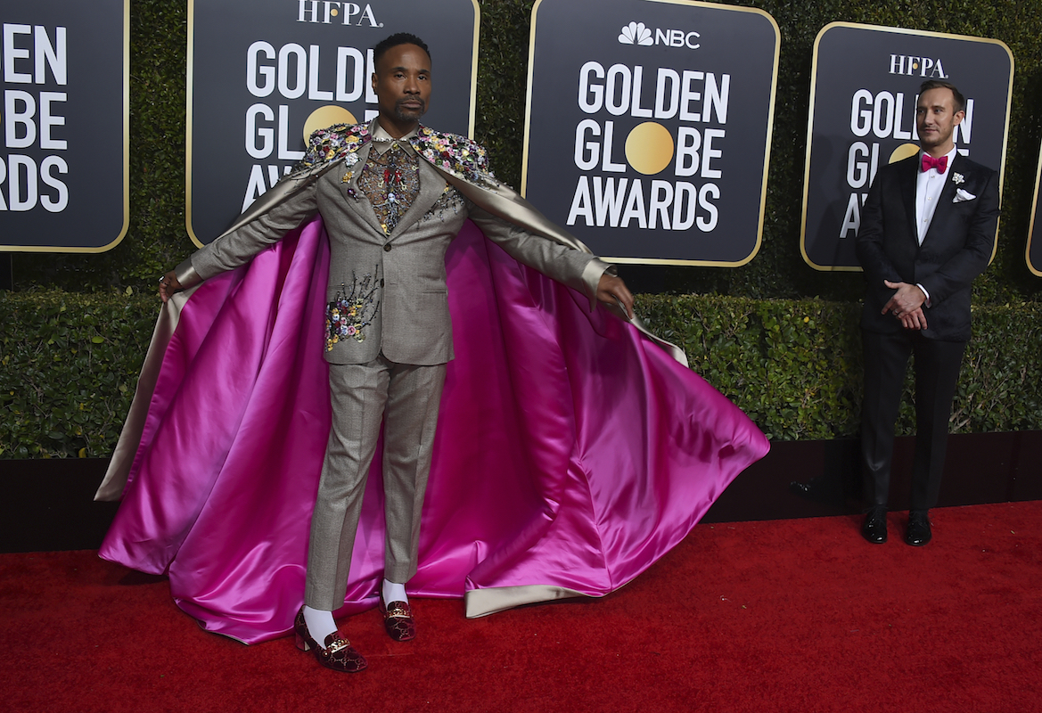 "<div class=""meta image-caption""><div class=""origin-logo origin-image ap""><span>AP</span></div><span class=""caption-text"">Billy Porter arrives at the 76th annual Golden Globe Awards at the Beverly Hilton Hotel on Sunday, Jan. 6, 2019, in Beverly Hills, Calif. (Jordan Strauss/Invision/AP)</span></div>"