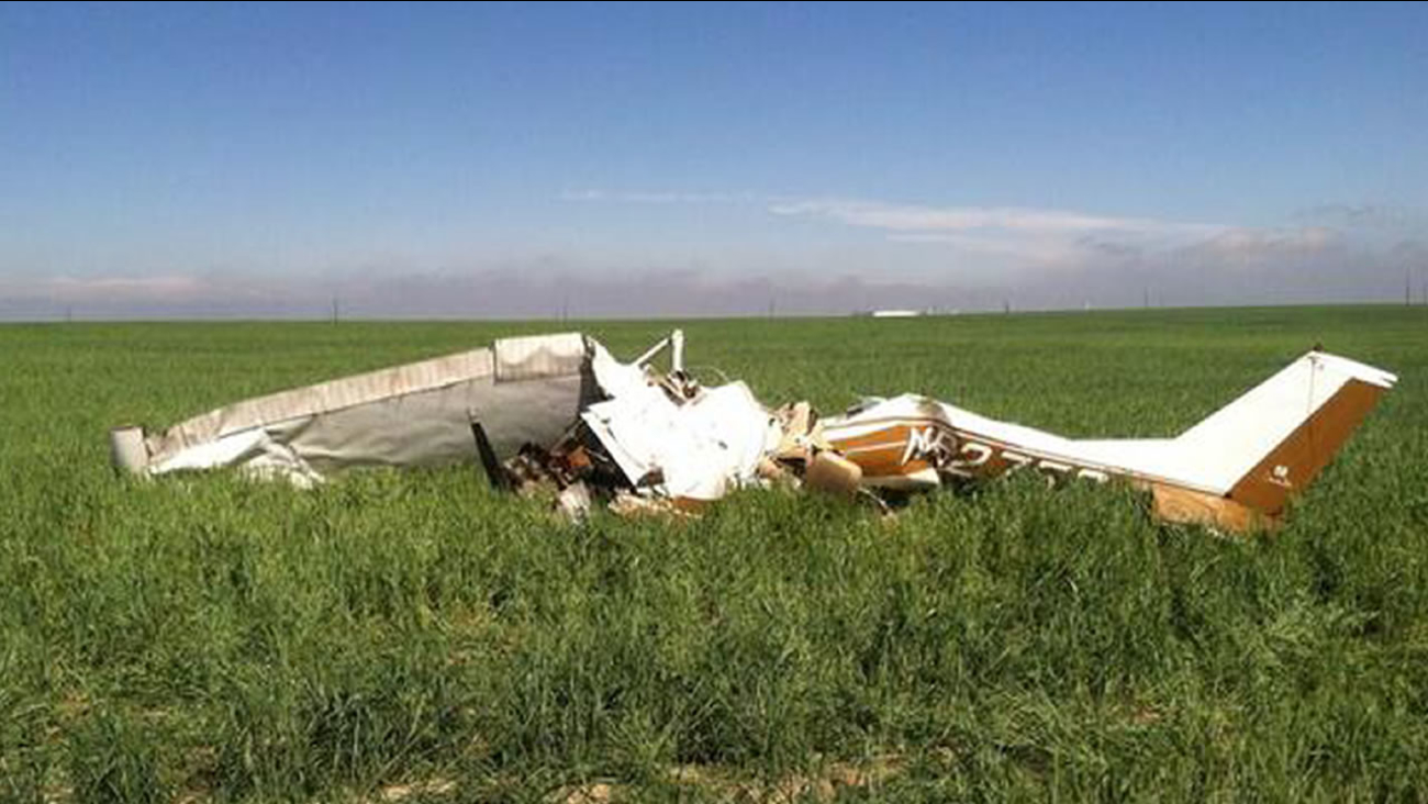 Single-engine plane that crashed and killed two people near Denver in May 2014.