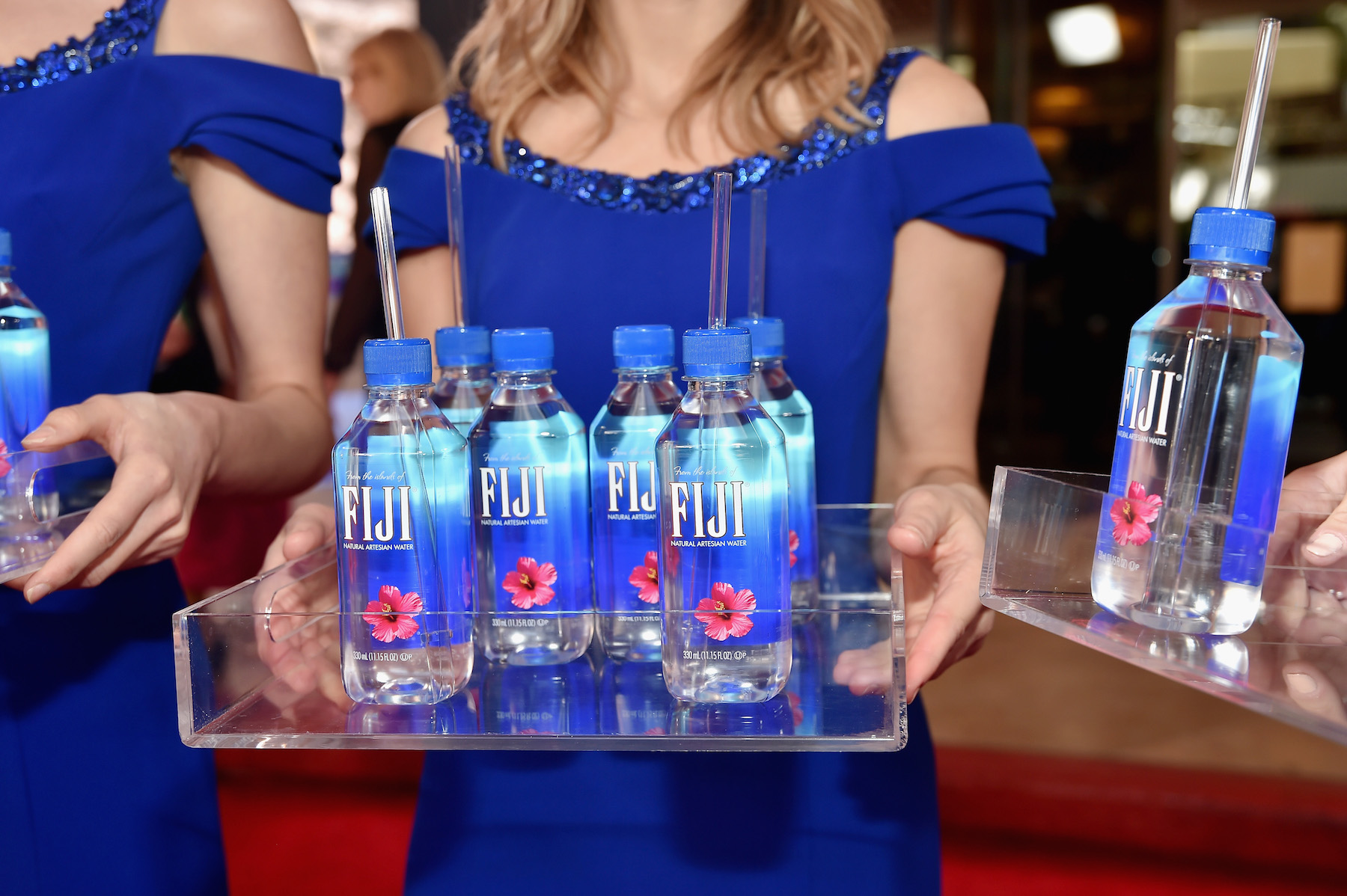 <div class='meta'><div class='origin-logo' data-origin='Creative Content'></div><span class='caption-text' data-credit='Stefanie Keenan/Getty Images for FIJI Water'>FIJI Water at the 76th Annual Golden Globe Awards on January 6, 2019, at the Beverly Hilton in Los Angeles, California.</span></div>
