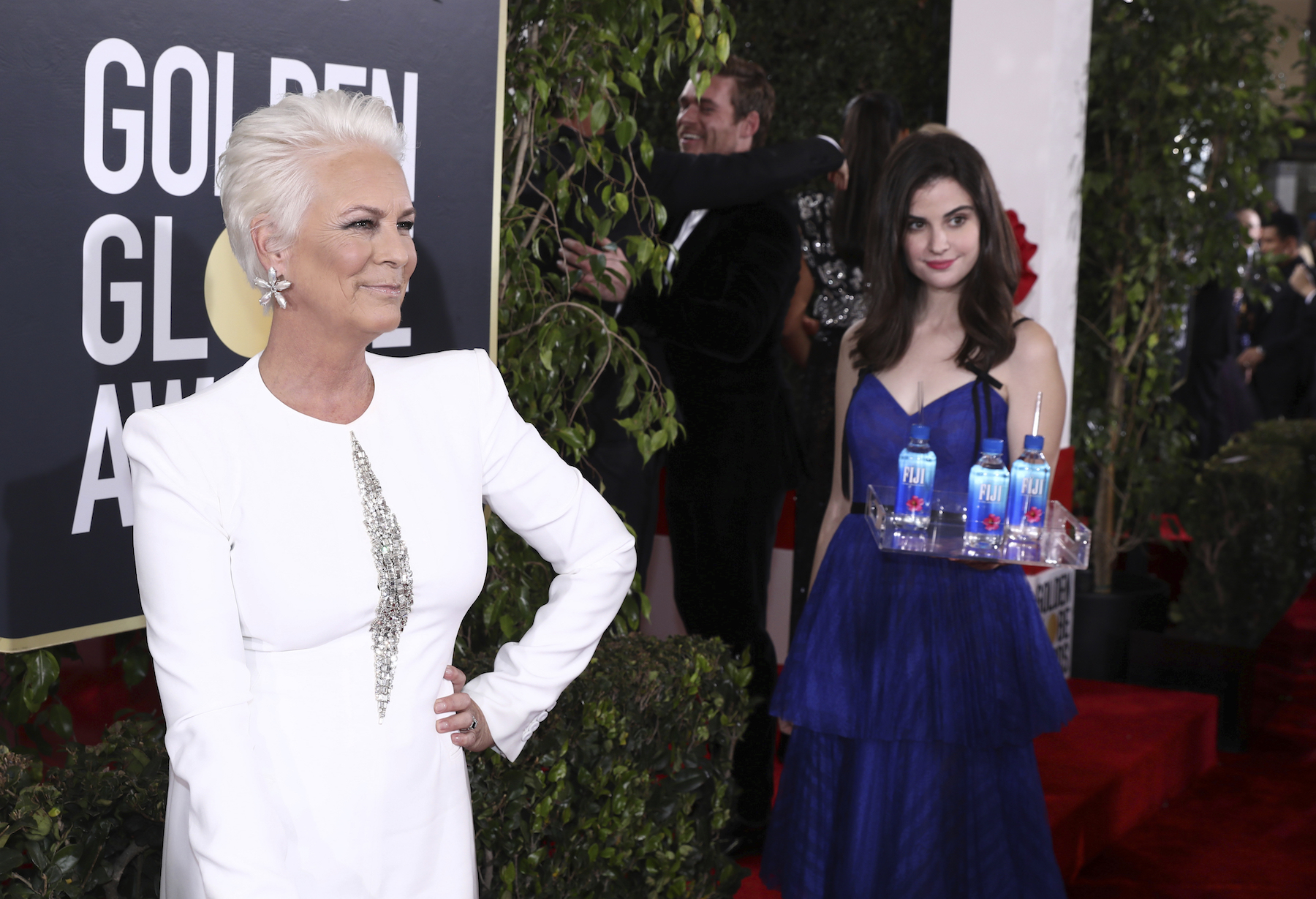 <div class='meta'><div class='origin-logo' data-origin='AP'></div><span class='caption-text' data-credit='Matt Sayles/Invision for FIJI Water/AP Images'>Jamie Lee Curtis at the 76th annual Golden Globe® Awards with FIJI Water on Sunday, Jan. 6, 2019 in Beverly Hills, Calif.</span></div>