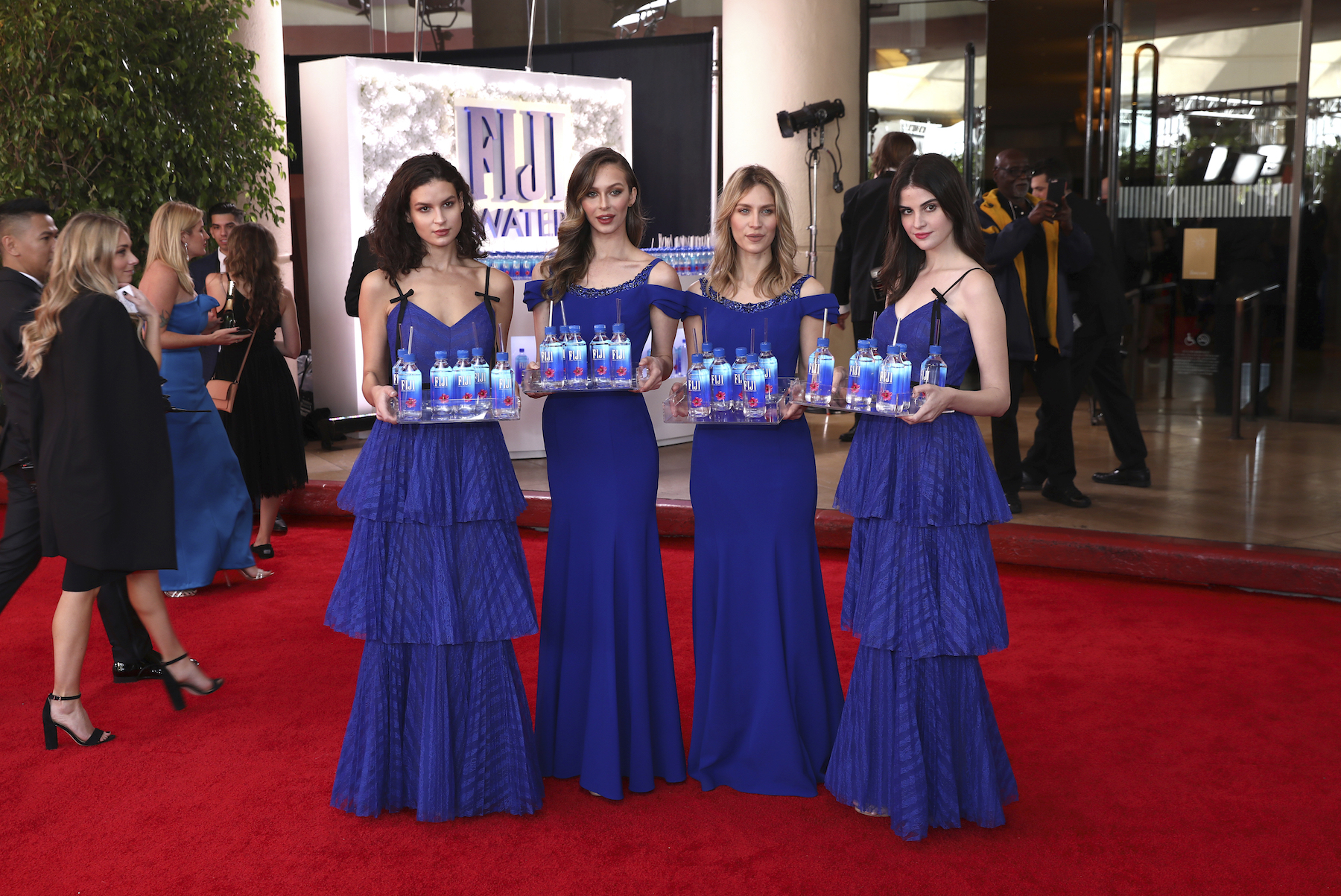<div class='meta'><div class='origin-logo' data-origin='AP'></div><span class='caption-text' data-credit='Matt Sayles/Invision for FIJI Water/AP Images'>FIJI Water at the 76th annual Golden Globe® Awards on Sunday, Jan. 6, 2019 in Beverly Hills, Calif.</span></div>