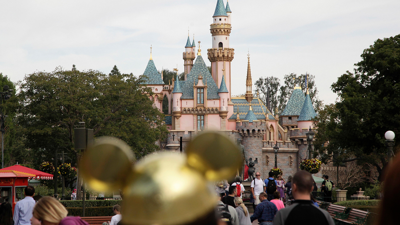 FILE - This Jan. 22, 2015 file photo shows Sleeping Beauty's Castle at the Disneyland theme park in Anaheim, Calif.