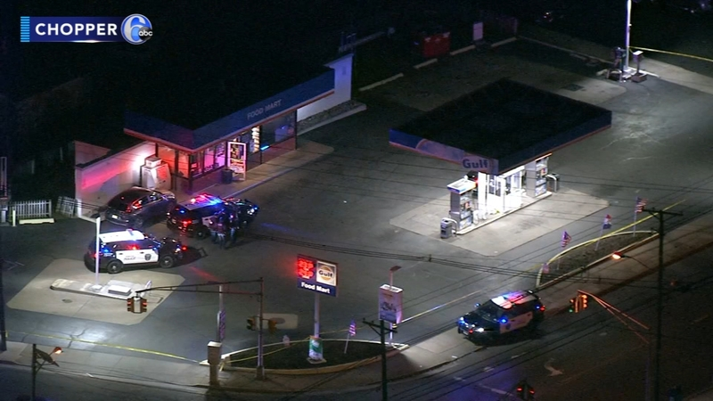 Employee shot during N J  gas station robbery