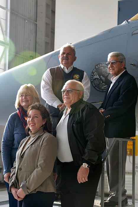 "<div class=""meta image-caption""><div class=""origin-logo origin-image kfsn""><span>KFSN</span></div><span class=""caption-text"">Reedley, Calif. Mayor and city council members pose for a photo after a Cities of Honor event inside the base hangar Feb. 3, 2015. (Air National Guard photo by Senior Airman Klynne Pearl Serrano)</span></div>"