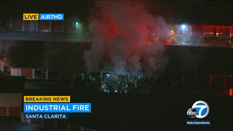 Fire burns through Valencia storage facility