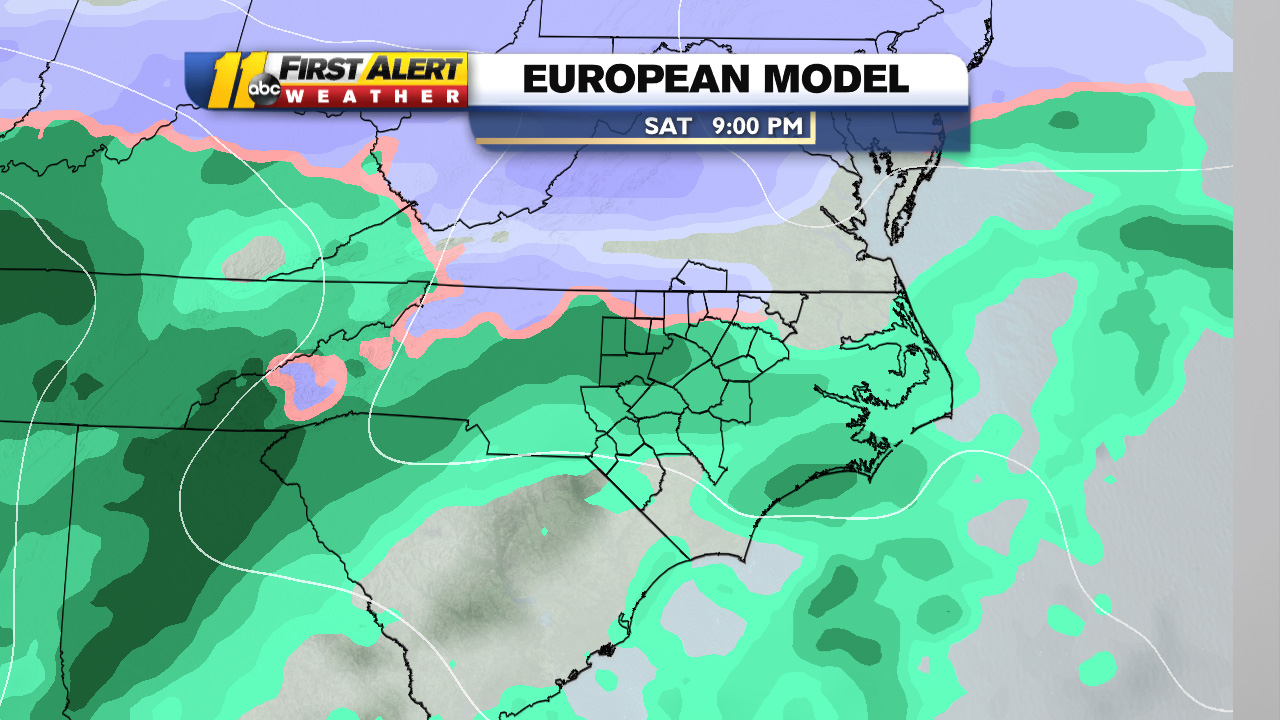 NC snow: Latest weather models say wintry mix, rain more