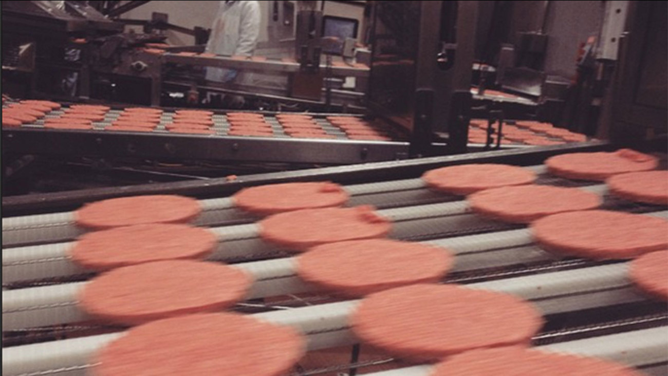 McDonald's beef patties at the Cargill plant in Fresno