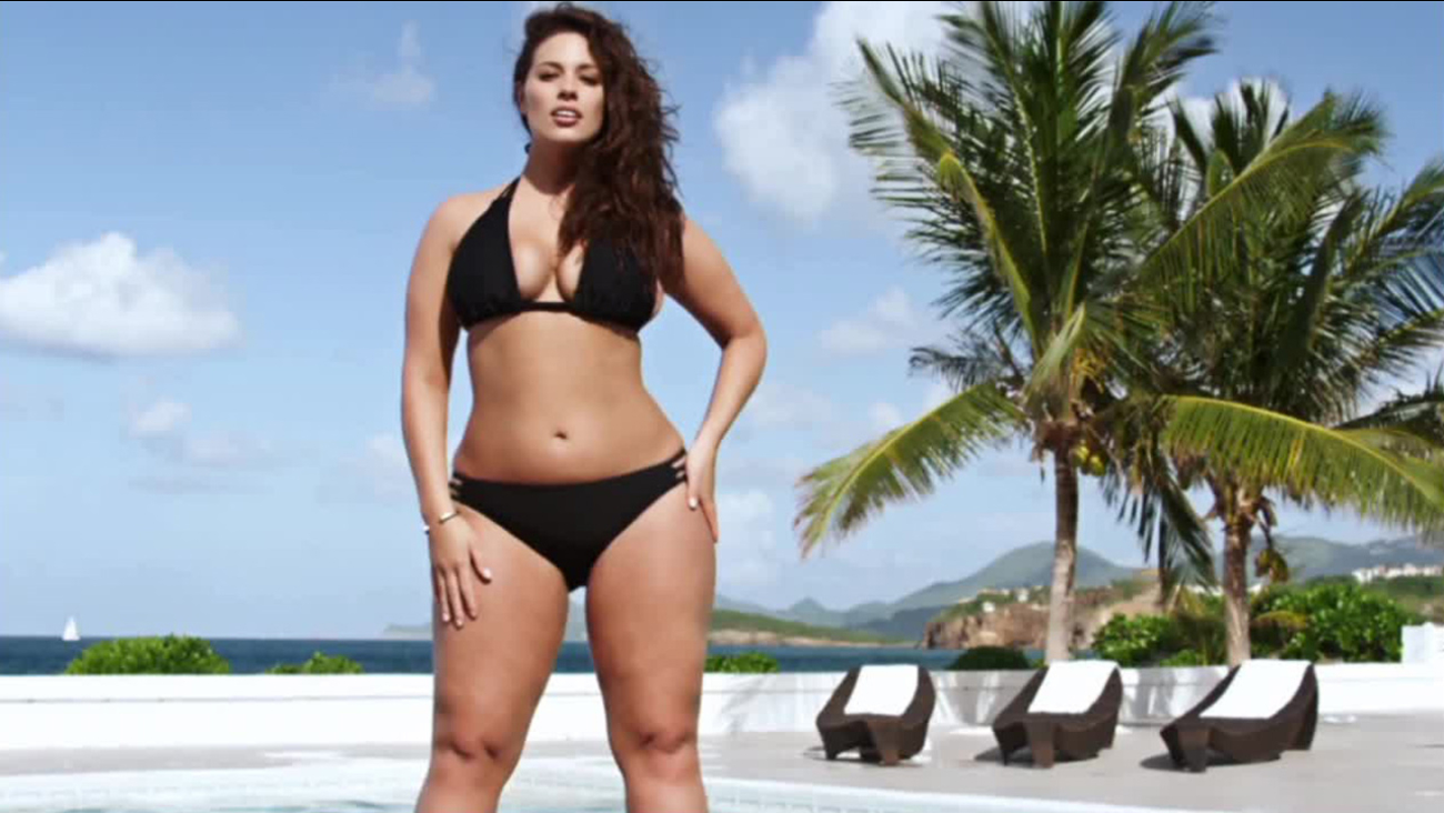 Ashley Graham is shown modeling for the swimsuit edition of 'Sports Illustrated.'