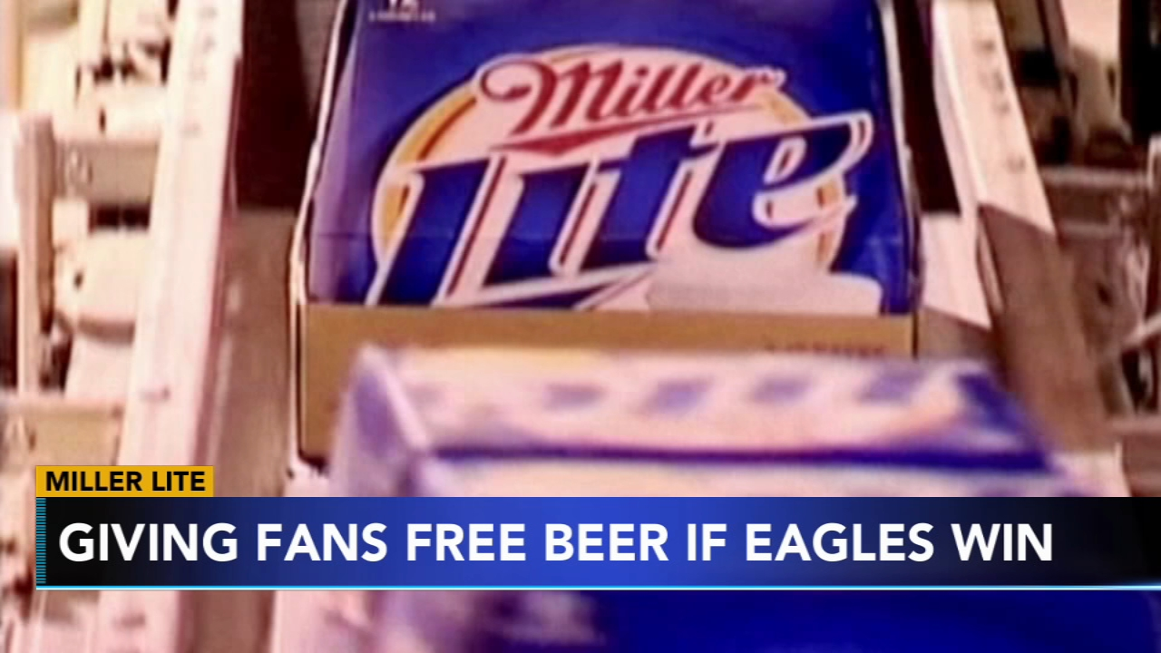 b999e62a7 NFL Playoffs  Miller Lite offering Philadelphia Eagles fans free ...