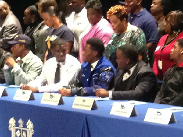 "<div class=""meta image-caption""><div class=""origin-logo origin-image none""><span>none</span></div><span class=""caption-text"">Lots of signees at Dekaney High School (KTRK Photo)</span></div>"
