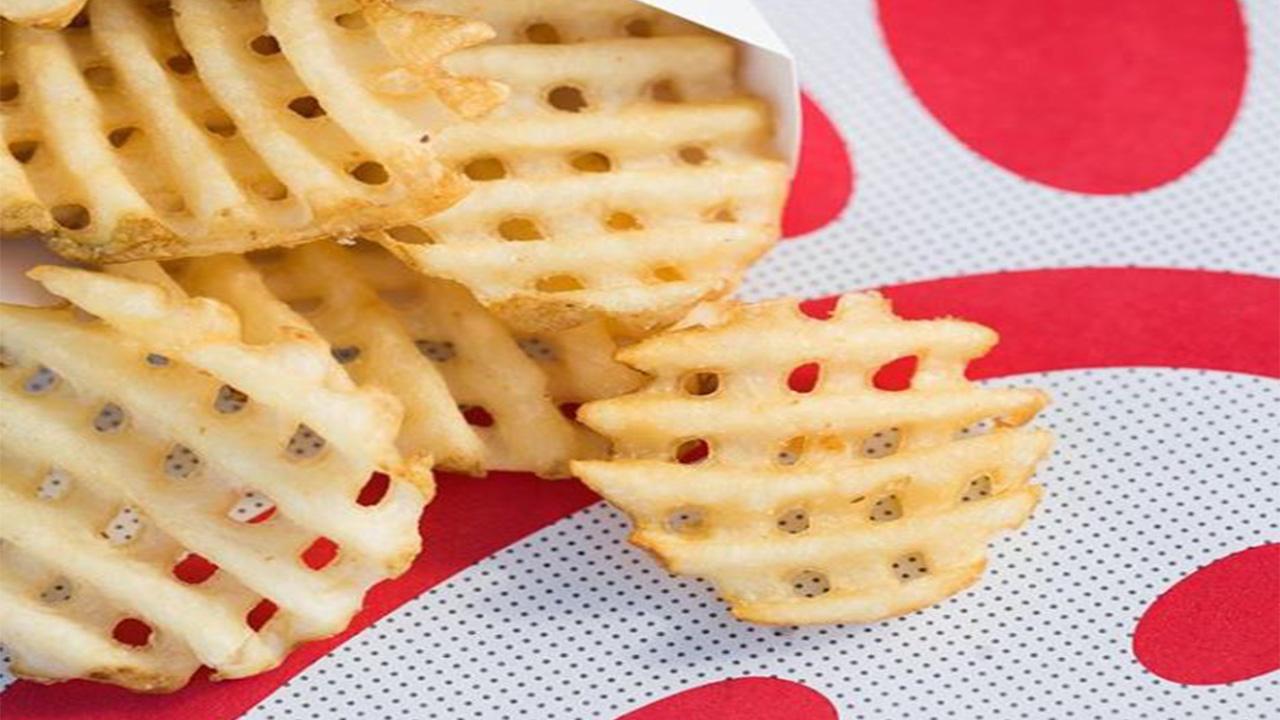graphic regarding Chickfila Printable Menu called Chick-fil-A dubs waffles fries highest distinguished menu merchandise