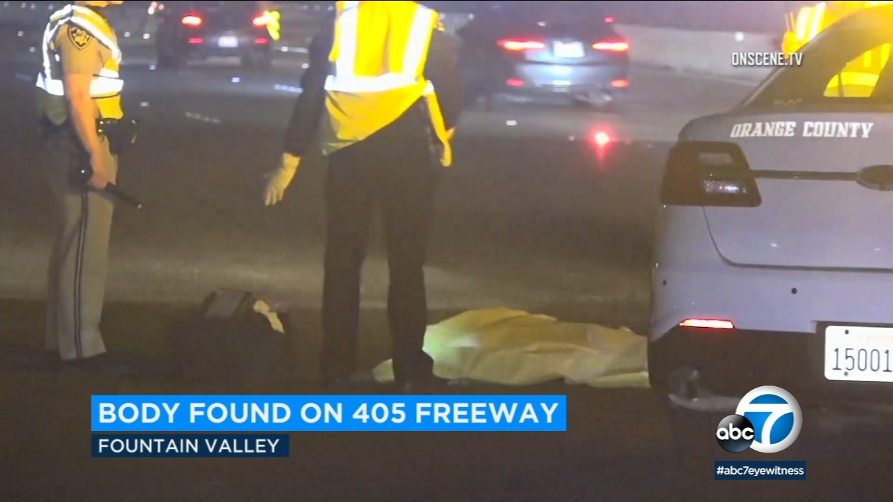 Body found in lanes on 405 in Orange County