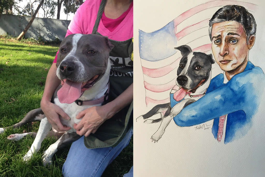 """<div class=""""meta image-caption""""><div class=""""origin-logo origin-image none""""><span>none</span></div><span class=""""caption-text"""">Bay Area artists created portraits of pets at Oakland Animal Services in the hopes of spurring adoptions. (Oakland Animal Services)</span></div>"""