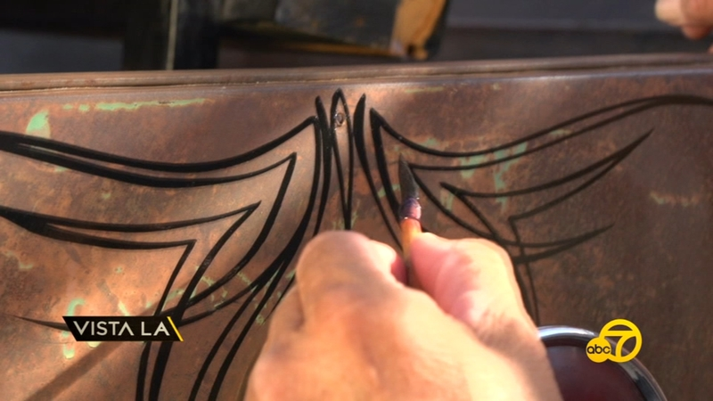 Local Artist Keeping The Art Of Pinstriping Alive Abc7 Los Angeles