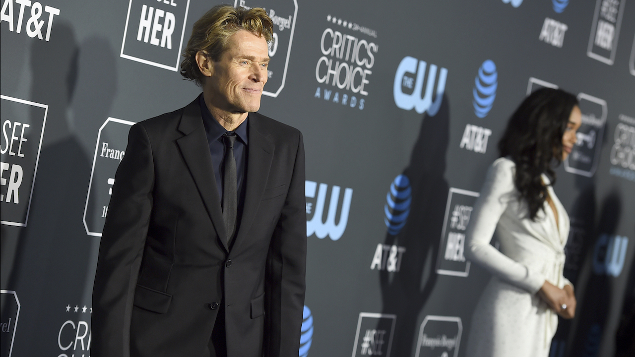 <div class='meta'><div class='origin-logo' data-origin='AP'></div><span class='caption-text' data-credit='Jordan Strauss/Invision/AP'>Willem Dafoe arrives at the 24th annual Critics' Choice Awards on Sunday, Jan. 13, 2019, at the Barker Hangar in Santa Monica, Calif.</span></div>