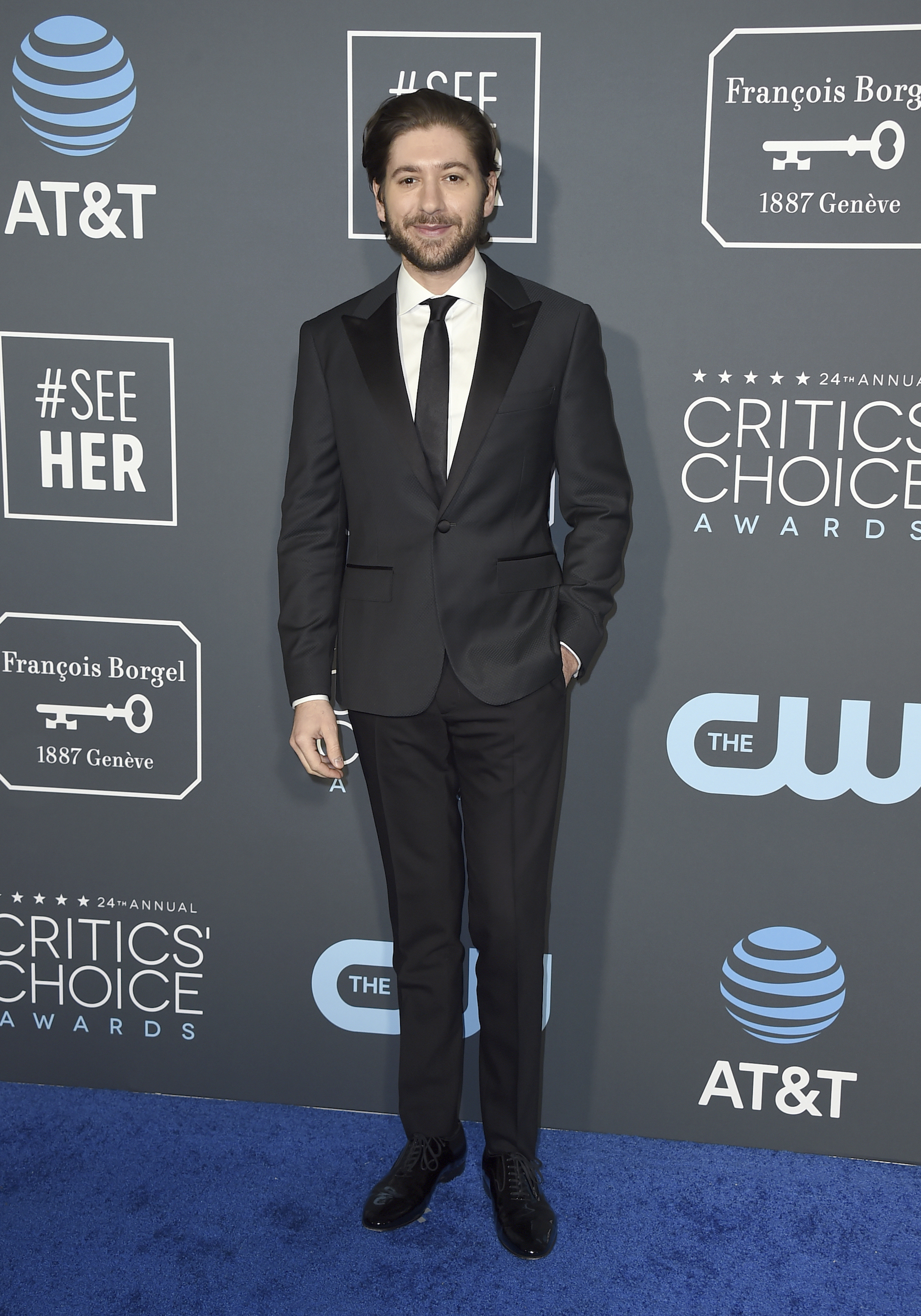 <div class='meta'><div class='origin-logo' data-origin='AP'></div><span class='caption-text' data-credit='Jordan Strauss/Invision/AP'>Michael Zegen arrives at the 24th annual Critics' Choice Awards on Sunday, Jan. 13, 2019, at the Barker Hangar in Santa Monica, Calif.</span></div>