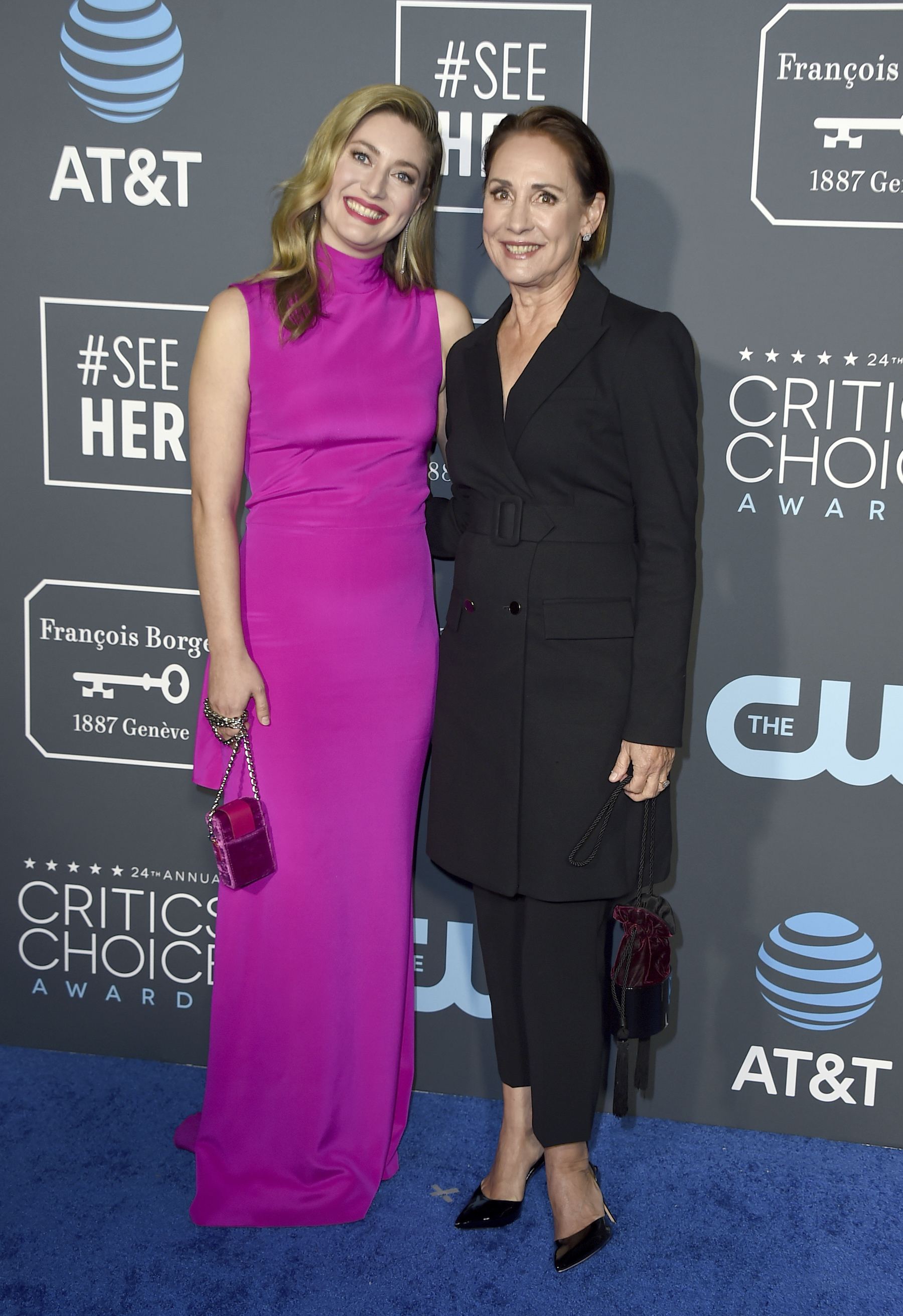 <div class='meta'><div class='origin-logo' data-origin='AP'></div><span class='caption-text' data-credit='Jordan Strauss/Invision/AP'>Laurie Metcalf, right, and her daughter Zoe Perry arrive at the 24th annual Critics' Choice Awards on Sunday, Jan. 13, 2019, at the Barker Hangar in Santa Monica, Calif.</span></div>