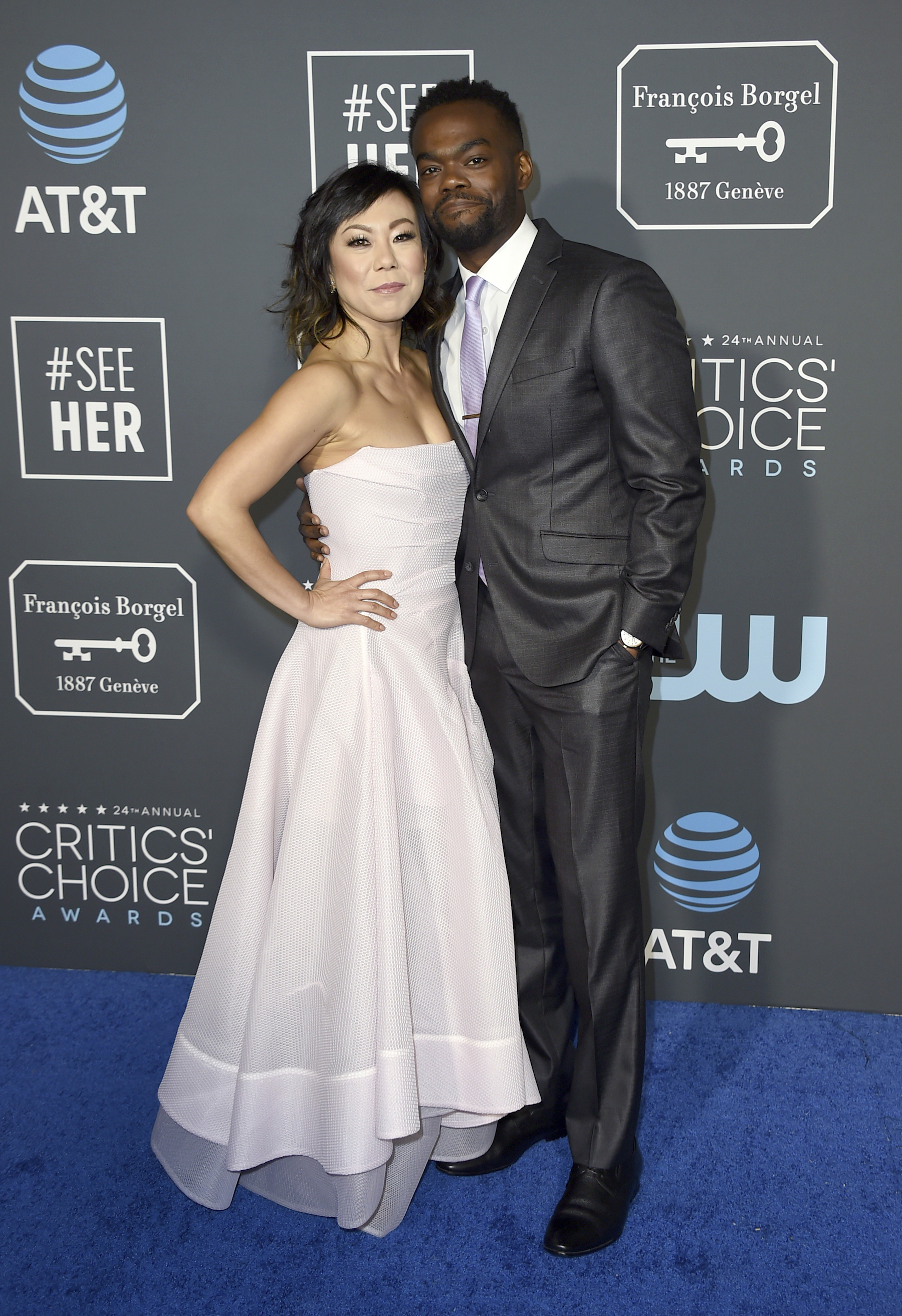 <div class='meta'><div class='origin-logo' data-origin='AP'></div><span class='caption-text' data-credit='Jordan Strauss/Invision/AP'>Ali Ahn, left, and William Jackson Harper arrive at the 24th annual Critics' Choice Awards on Sunday, Jan. 13, 2019, at the Barker Hangar in Santa Monica, Calif.</span></div>