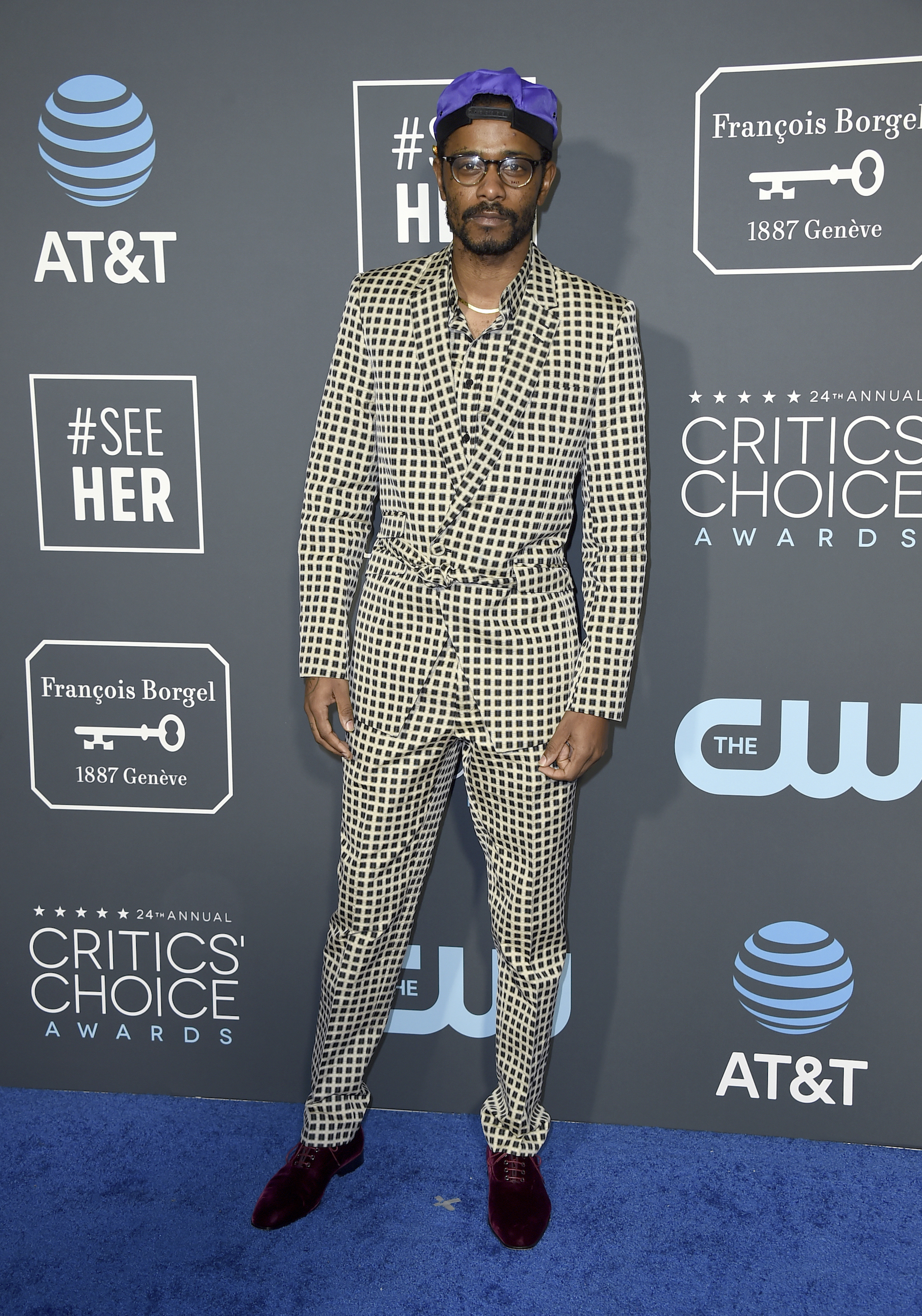 <div class='meta'><div class='origin-logo' data-origin='AP'></div><span class='caption-text' data-credit='Jordan Strauss/Invision/AP'>Lakeith Stanfield arrives at the 24th annual Critics' Choice Awards on Sunday, Jan. 13, 2019, at the Barker Hangar in Santa Monica, Calif.</span></div>