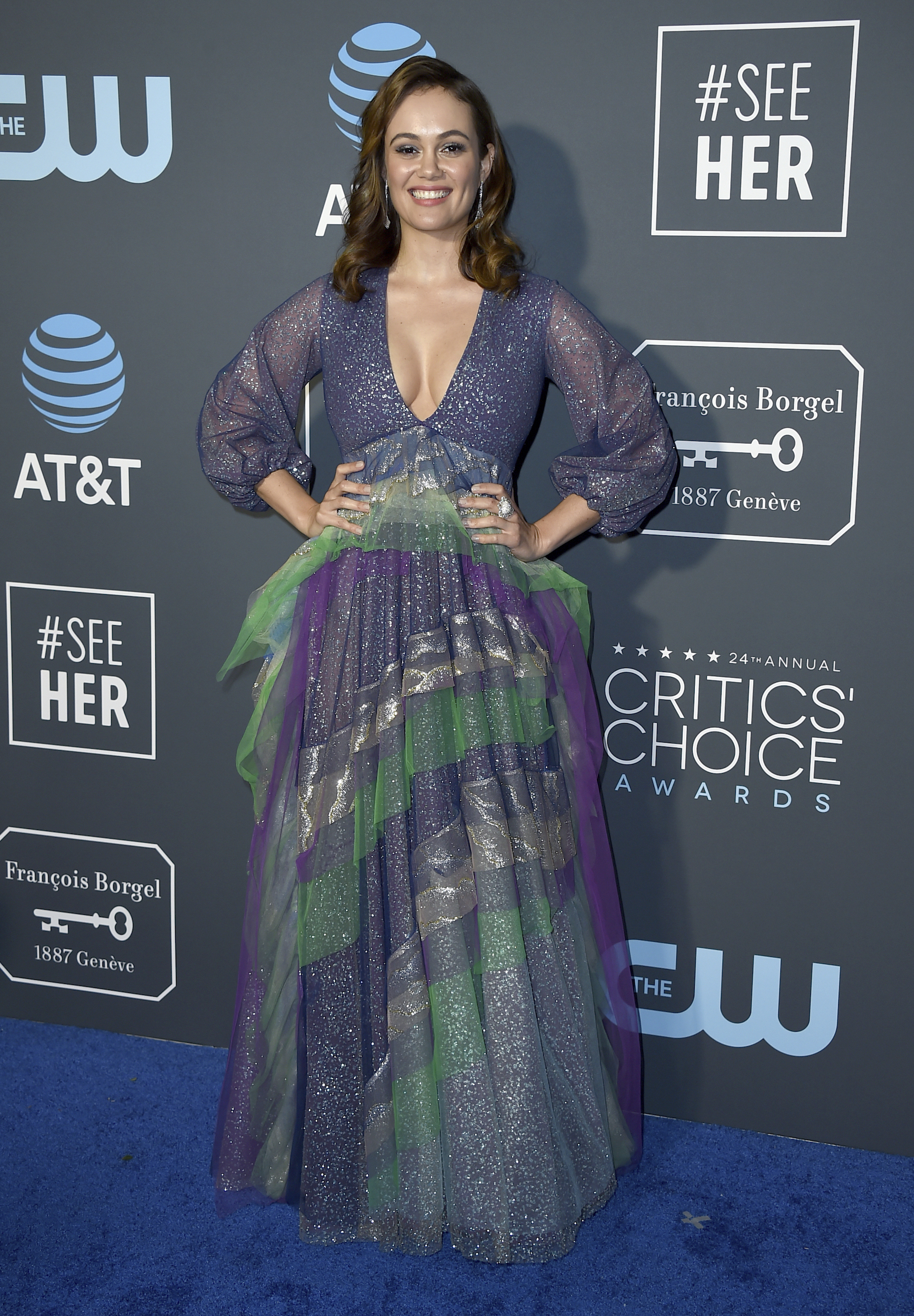 <div class='meta'><div class='origin-logo' data-origin='AP'></div><span class='caption-text' data-credit='Jordan Strauss/Invision/AP'>Dina Shihabi arrives at the 24th annual Critics' Choice Awards on Sunday, Jan. 13, 2019, at the Barker Hangar in Santa Monica, Calif.</span></div>