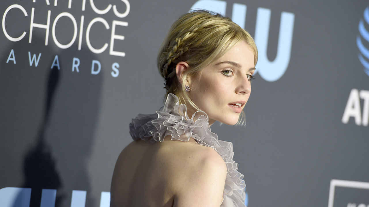 <div class='meta'><div class='origin-logo' data-origin='AP'></div><span class='caption-text' data-credit='Jordan Strauss/Invision/AP'>Lucy Boynton arrives at the 24th annual Critics' Choice Awards on Sunday, Jan. 13, 2019, at the Barker Hangar in Santa Monica, Calif.</span></div>