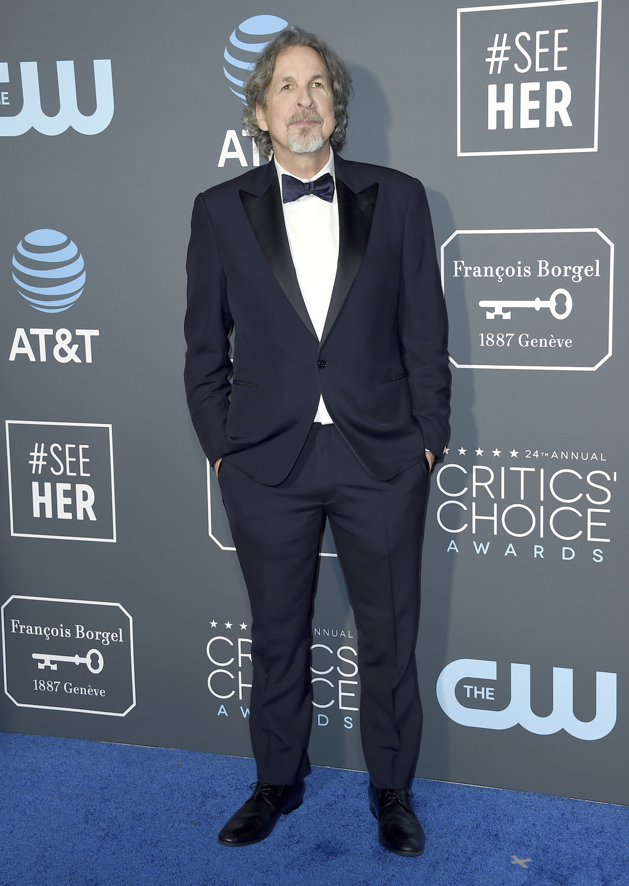 <div class='meta'><div class='origin-logo' data-origin='AP'></div><span class='caption-text' data-credit='Jordan Strauss/Invision/AP'>Peter Farrelly arrives at the 24th annual Critics' Choice Awards on Sunday, Jan. 13, 2019, at the Barker Hangar in Santa Monica, Calif.</span></div>
