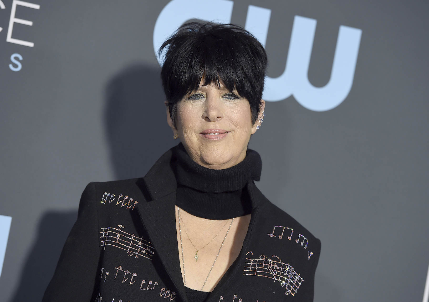 <div class='meta'><div class='origin-logo' data-origin='AP'></div><span class='caption-text' data-credit='Jordan Strauss/Invision/AP'>Diane Warren arrives at the 24th annual Critics' Choice Awards on Sunday, Jan. 13, 2019, at the Barker Hangar in Santa Monica, Calif.</span></div>