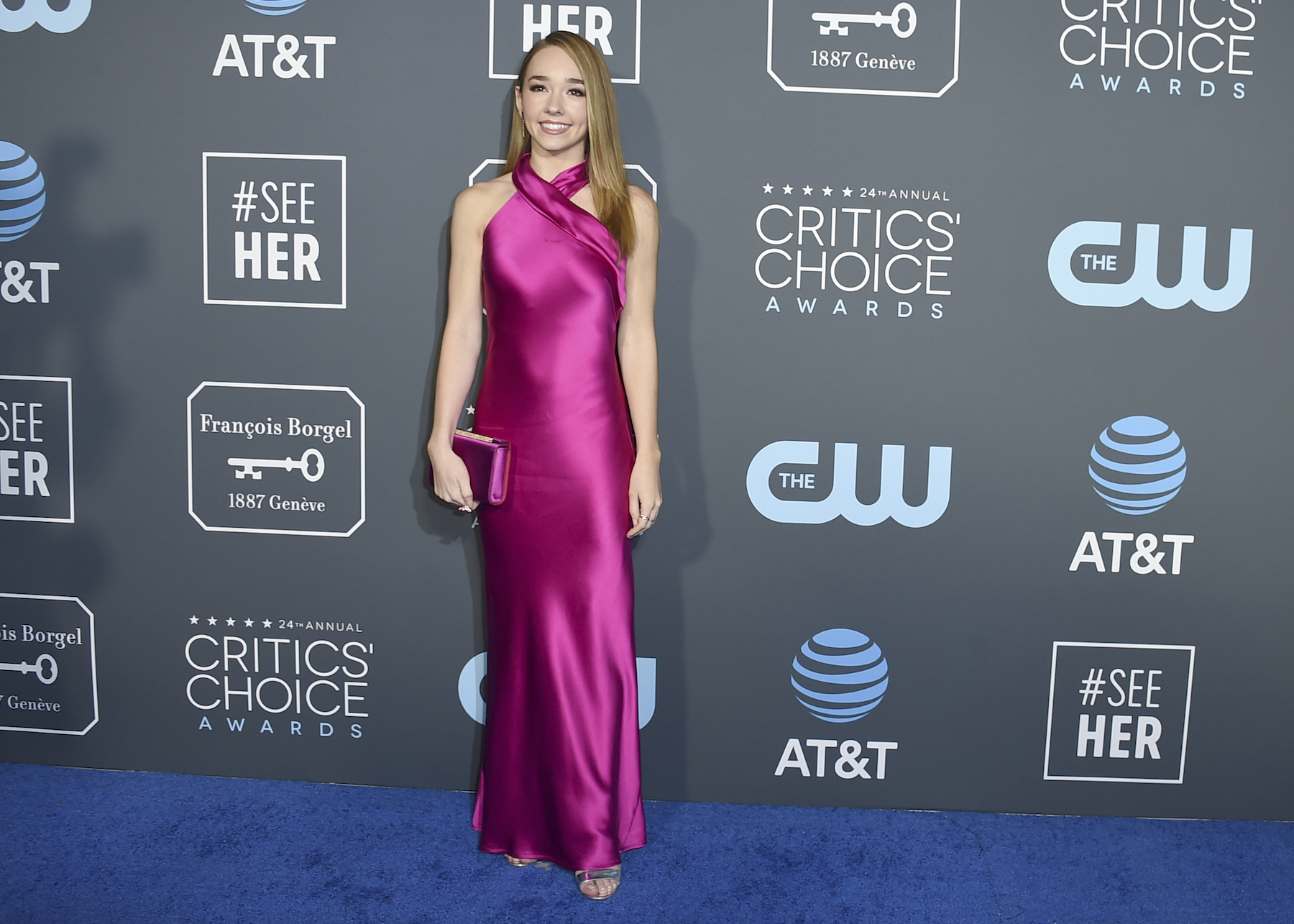 <div class='meta'><div class='origin-logo' data-origin='AP'></div><span class='caption-text' data-credit='Jordan Strauss/Invision/AP'>Holly Taylor arrives at the 24th annual Critics' Choice Awards on Sunday, Jan. 13, 2019, at the Barker Hangar in Santa Monica, Calif.</span></div>